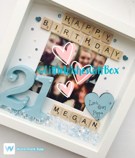 40th 30th Birthday Personalised Box Frame, Photo Frame