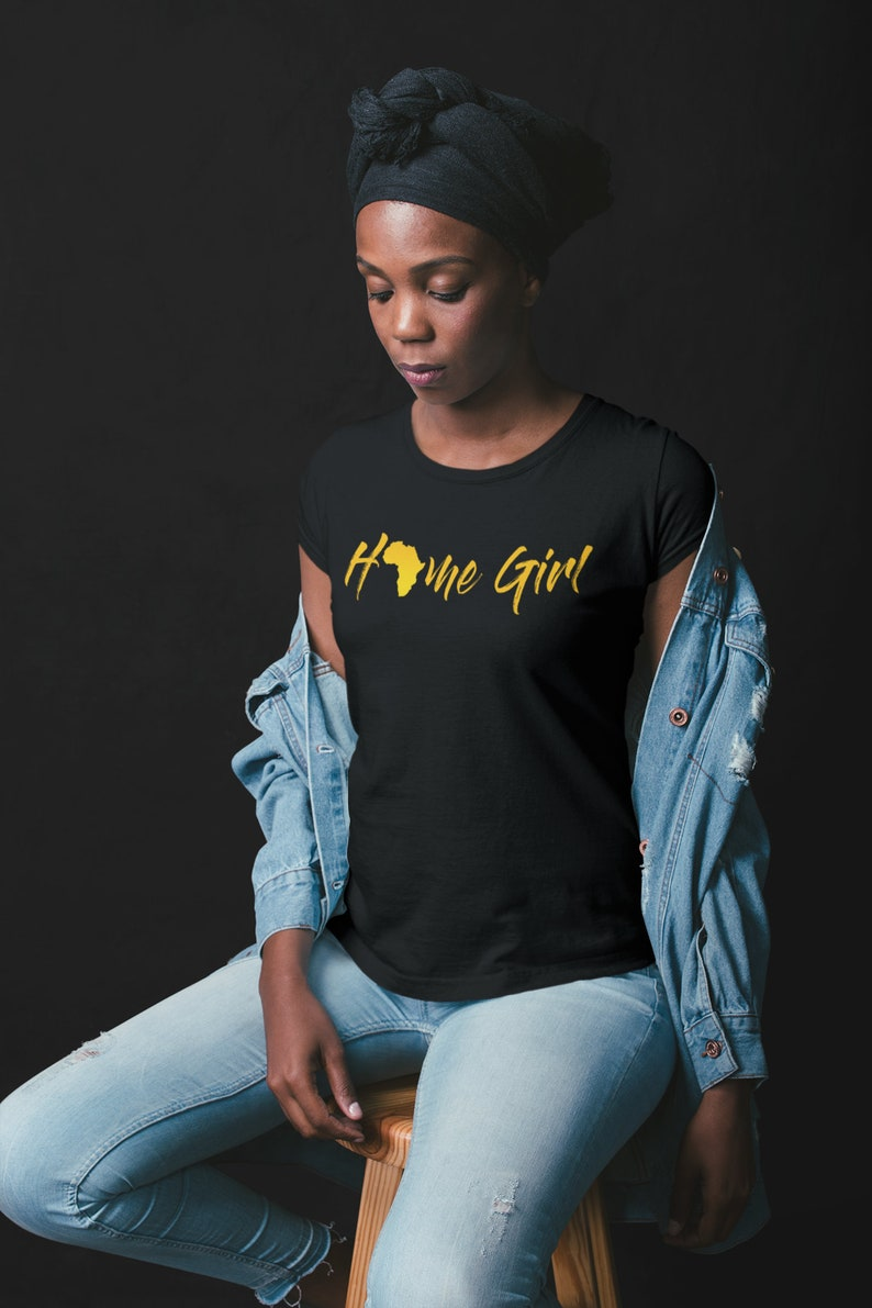 2211635547 Home Girl Africa T-shirt   Afro Centric Afrocentric