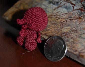 Amigurumi Burgundy Micro Cthulhu thread