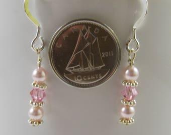 Swarovski Crystal, Sterling Silver Earrings