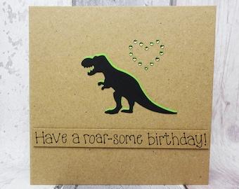 T Rex Card Etsy