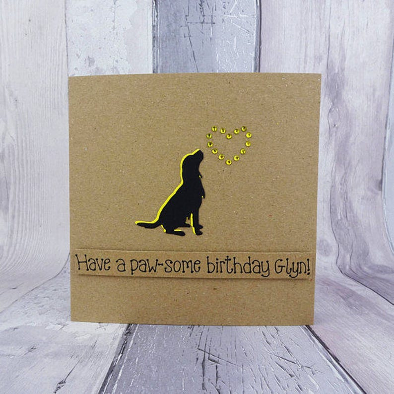 Springer Spaniel birthday card Personalised funny dog image 0