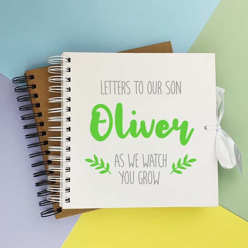 Personalised keepsake for son Letters to son memory book image 0
