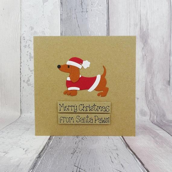 sausage dog christmas cards
