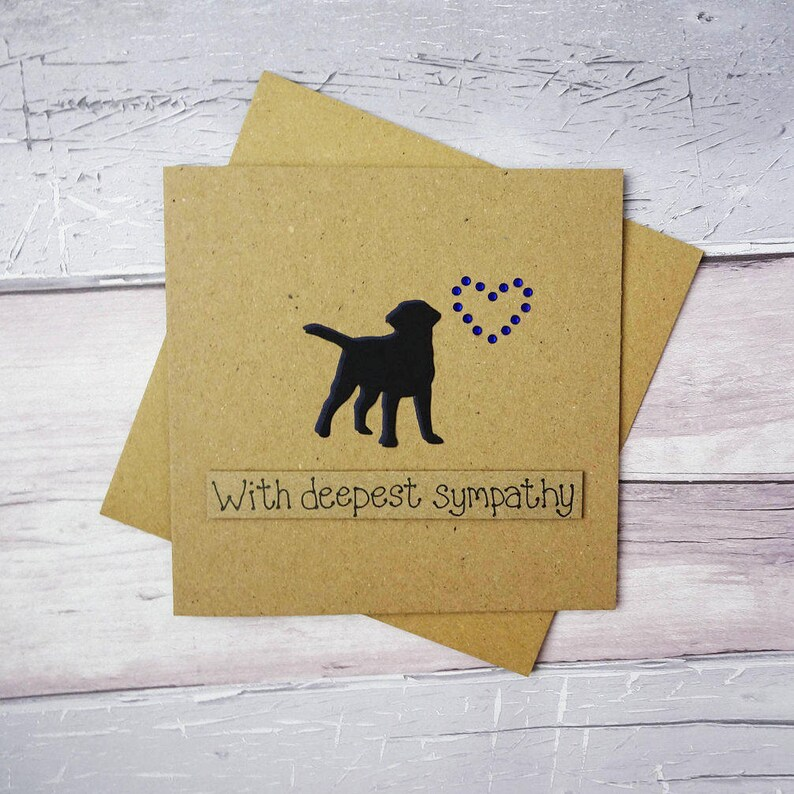 Dog sympathy card: thinking of you card Handmade loss of a image 0