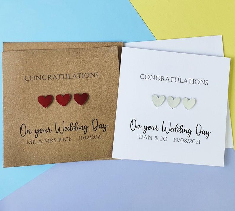 Wedding card for couple Luxury Handmade Wedding card image 0