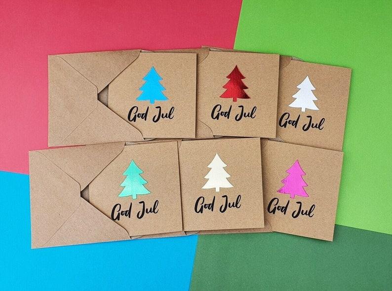 God Jul Christmas cards pack Handmade Scandinavian Christmas image 0