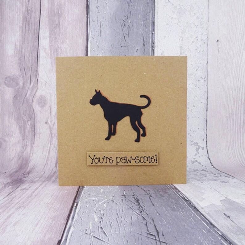 Great Dane card Handmade birthday card Dog birthday card image 0