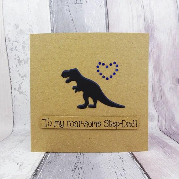 Funny Dinosaur Birthday Card For Dad Handmade T Rex