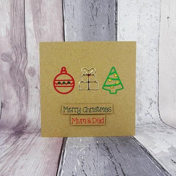 Mama und Papa Weihnachten Karte handgemachte Weihnachtskarte | Etsy