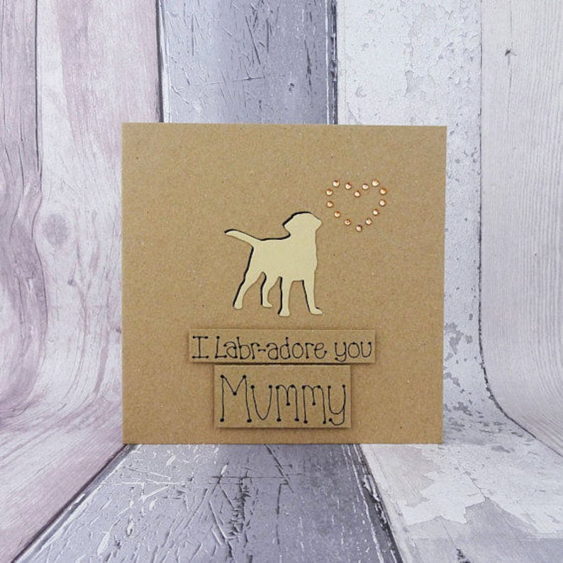 Labrador Mum Birthday Card Card for Mum / Mom Mother's image 0