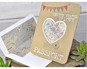 Travel Theme Wedding Invitation Etsy