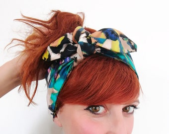 Pin up multicolor style hair band