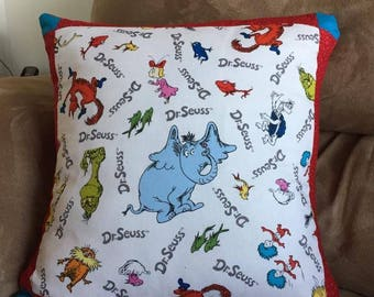 Dr Seuss throw pillows