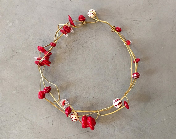 Rosso Murano Glass Necklace