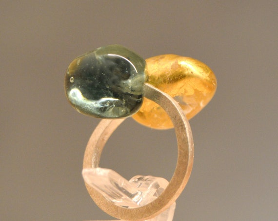 Murano glass ring Bell Gold