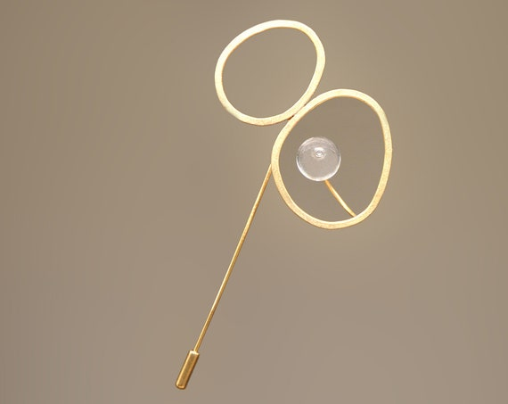 Biglass Murano glass Brooch pin