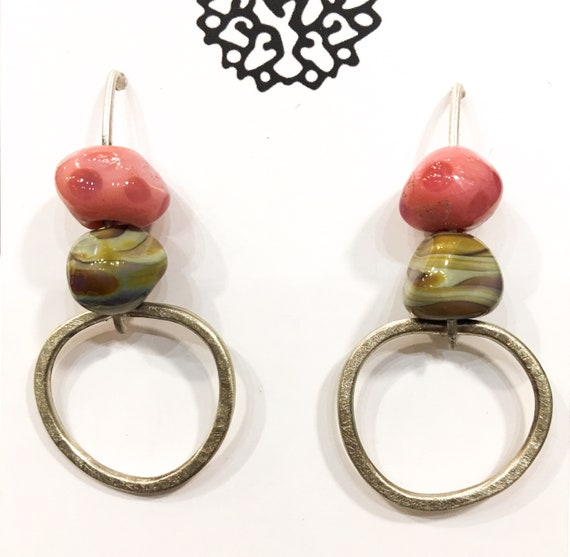 Geo pink Earrings