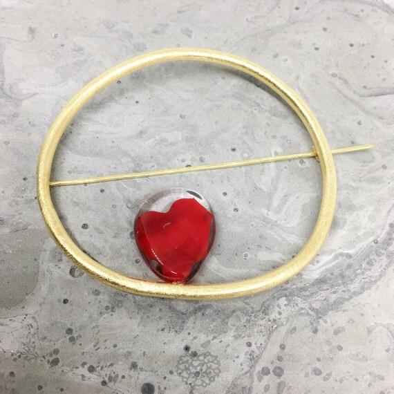 Oh Ring Murano glass Brooch