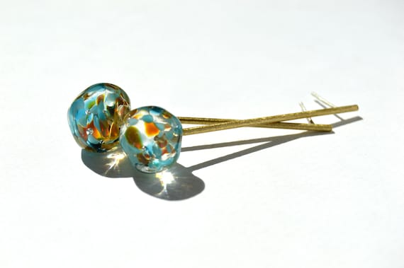 Lampwork glass earrings Bolulas