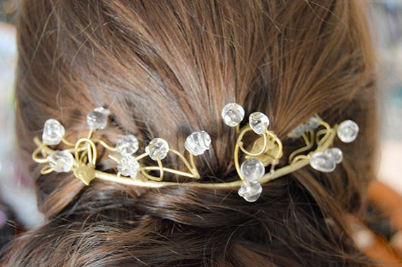 Branch Murano glass bridal headpiece tiara