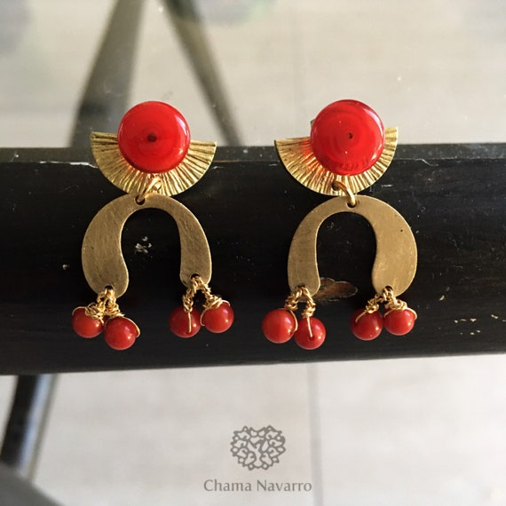 The Maya sunrise earrings