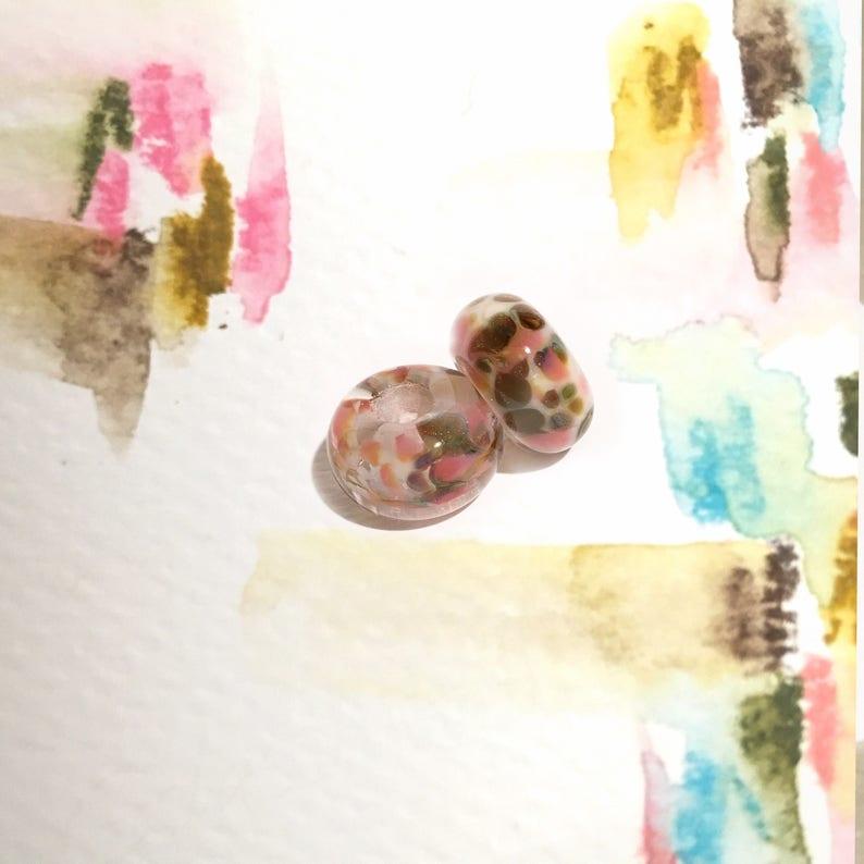 e6763171868e Set de dos charms de vidrio Murano para pulseras europeas