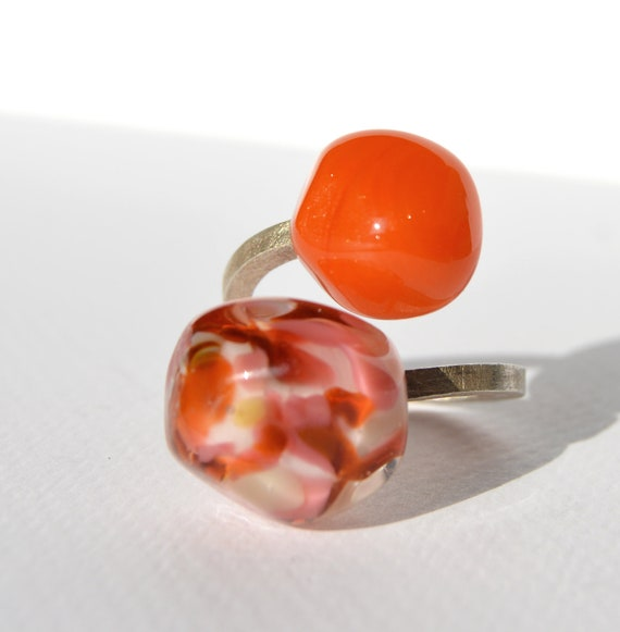 Murano glass ring Duduos Confetti Collection