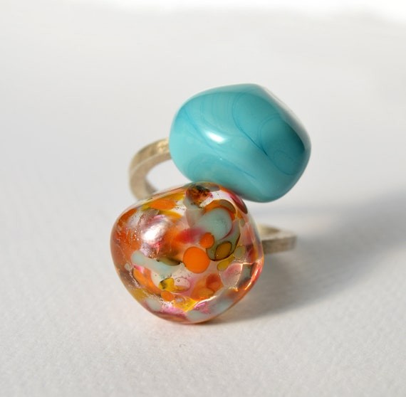 Murano glass ring Duduos Confetti