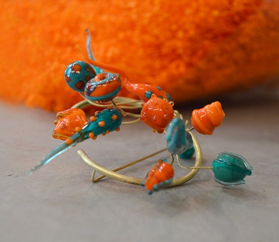 Onirica Flora pin brooch Murano Glass