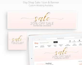 8845d7b366 ETSY SHOP SALE Banner | Black Friday Sale | Cyber Monday Sale | Christmas  Sale | New Years Sale | Valentines' Day Sale | Blush Pink & Gold