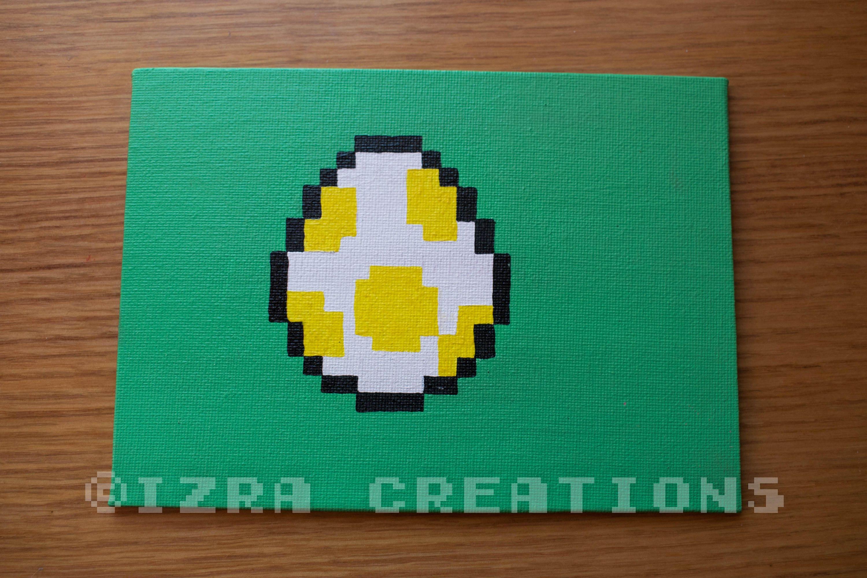 Painting Pixel Art Egg Yoshi Super Mario