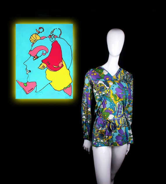 1960's Male Call Psychedelic Tunic  13/14 (Large)
