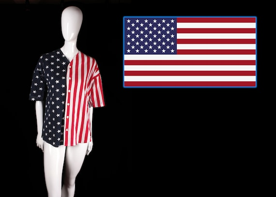 1980's Stars and Stripes Baseball Jersey