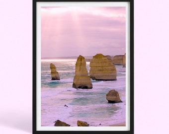 Australian Beach Sunset | Great Ocean Road | Australia Nature Landscape Photography Print | Twelve Apostles | Poster Print | Art Print