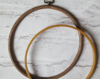 Wood Grain Embroidery Hoop - Flexi Hoop - Embroidery Crewel Crossstitch Frame - 8 inch
