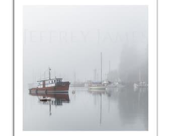 Degnan Bay Winter Fog (Fine Art Print Mounted on Cradled Wood Panel)