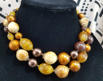 Beautiful Double Strand Beaded Necklace from Germany