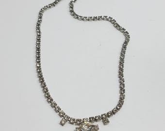 Beautiful Rhinestone Necklace with Adjustable Chain