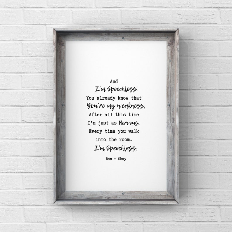 Dan Shay Speechless: Speechless Dan And Shay Lyrics Digital Download Hanging