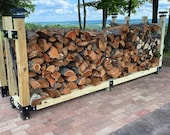 """14 Piece Firewood Cradle Wood Log Rack Bracket Set For 4 x 4 Posts - Made From 1/8"""" Plate Steel In USA!"""