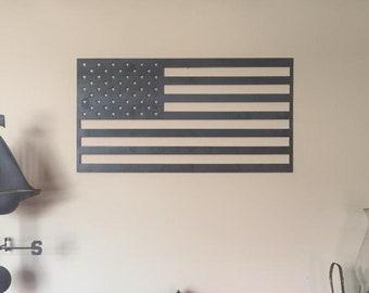 5adbac1e9b27 USA Patriotic Heavy-Duty Steel or Aluminum Metal American Flag 22