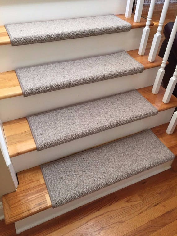 Alfa Stone 100% Wool True Bullnose® Padded Carpet Stair Tread Handmade Step Cover Comfort Safety Dog Cat Pet Runner- (Sold Individually)