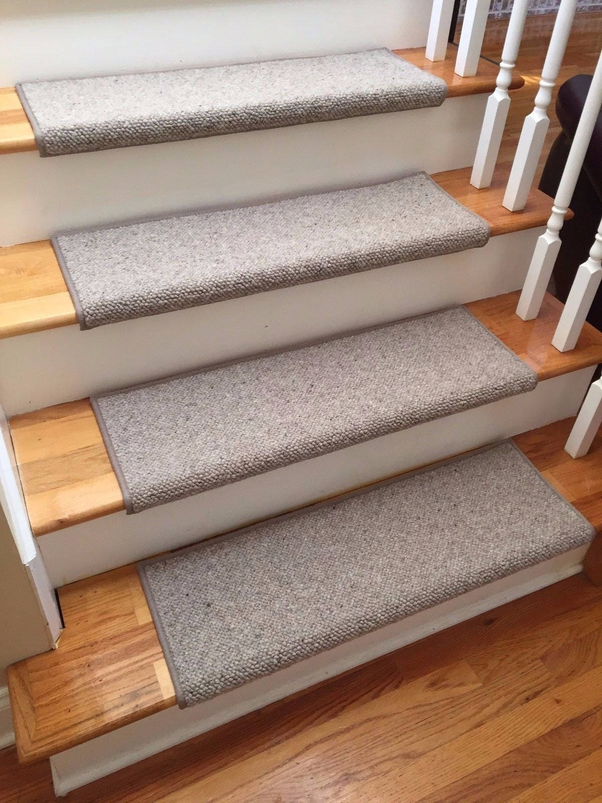 Attrayant Alfa Stone 100% Wool TRUE Bullnose™ Carpet Stair Tread Handmade Step Cover  Comfort Safety Dog Cat Pet Runner  (Sold Individually)