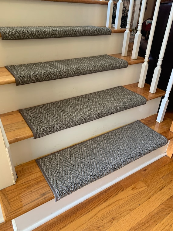 Anderson Tuftex Only Natural/Only Natural II Herringbone Pattern Padded True Bullnose® Carpet Stair Tread Sold Each