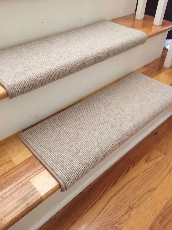 Bristol Linen New Zealand Wool!-True Bullnose® Padded Carpet Stair Tread Runner Replacement for Style, Comfort and Safety (Sold Each)