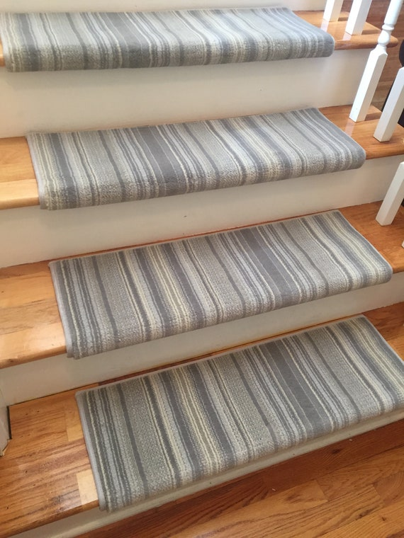 Merveilleux Providence Stripe Bayview True Bullnose™ Padded Carpet Stair Tread   For  Safety Comfort Dog Cat Pet (Sold Each)