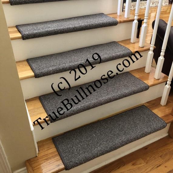 JMish Alfa Flannel 100% Wool True Bullnose® Padded Carpet Stair Tread JMish (Sold Per Step/Each)