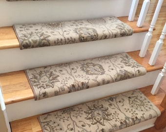 Authentic Wool Satin CreamTRUE Bullnose™ Carpet Stair Tread New Zealand  Wool Emporium Runner Replacement Upgrade