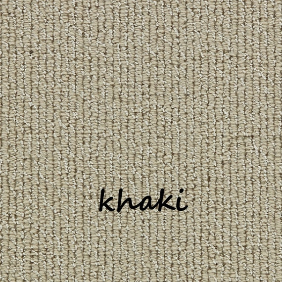 """CLEARANCE BOX SET Set of 16 Intuition Khaki 100% New Zealand Wool Padded True Bullnose™ Stair Treads 31"""" Wide X 10"""" Deep"""